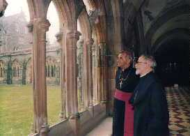 Abbot Mark Dilworth and Cardinal Keith O'Brien at the opening of Tony's Heritage Exhibition at the Abbey