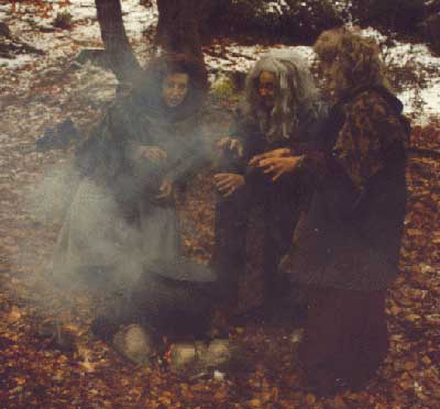 The witches scene from the Macbeth Experience